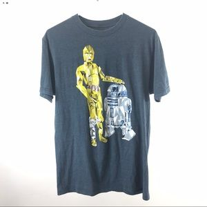 Star Wars C-3PO and R2-D2 graphic shirt size M